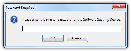 Введите мастер-пароль Firefox