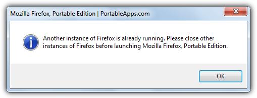 Еще один экземпляр Firefox уже запущен