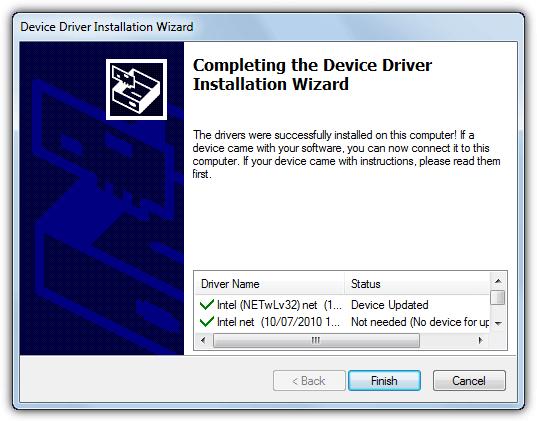 Установлен сетевой драйвер 3dp