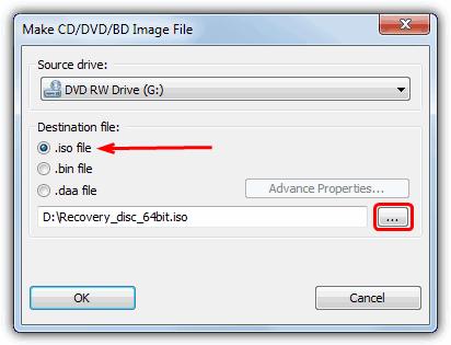 PowerISO сделать файл изображения