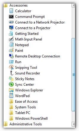 Сочетания клавиш для Windows Vista / 7