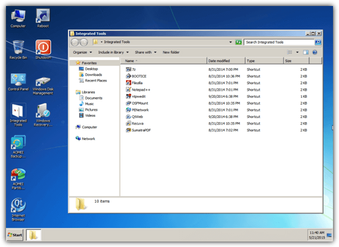 Aomei Windows Pe