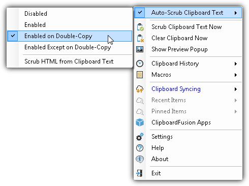 автоматическая очистка буфера обмена текста на двойной копии