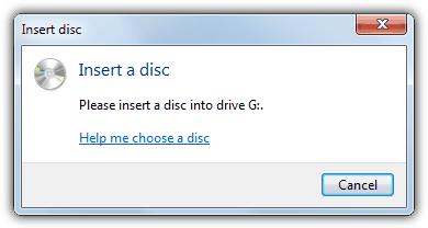 Вставьте диск