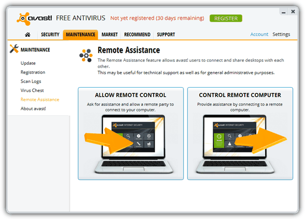Avast Remote Assistance