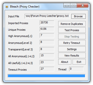 Bleach Proxy Checker
