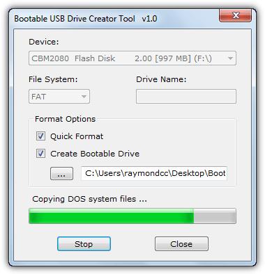 загрузочный инструмент для создания USB-накопителей
