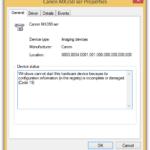 Как исправить Невозможно установить сканер или устройства обработки изображений из-за неполного реестра или повреждения кода 19