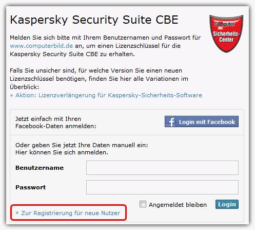 Zur Registrierung für neue Nutzer