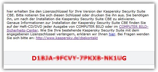 Kaspersky CBE лицензионный ключ