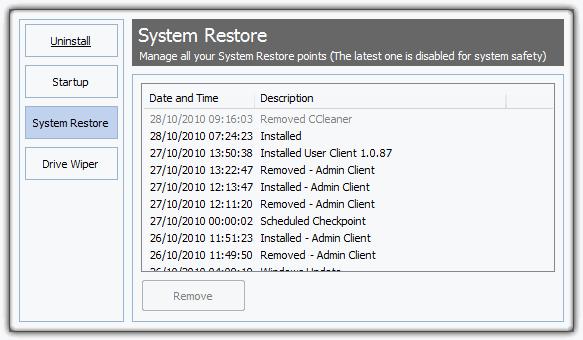 восстановление системы