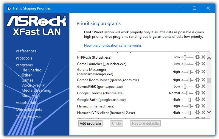 приоритеты программы cfosspeed
