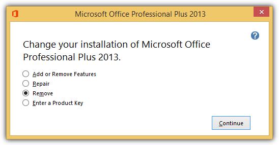 изменить установку Microsoft Office