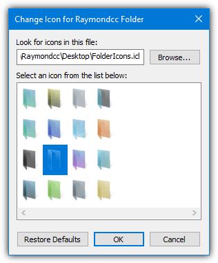 изменить значок окна