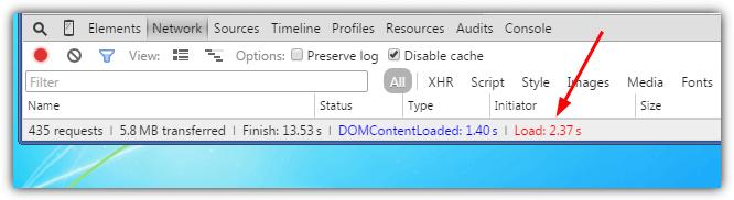 событие Chrome Load