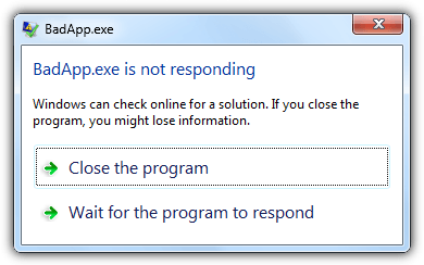 закройте программу