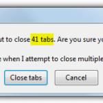 Предупреждать при закрытии нескольких открытых вкладок в Chrome, Firefox, Edge и Internet Explorer