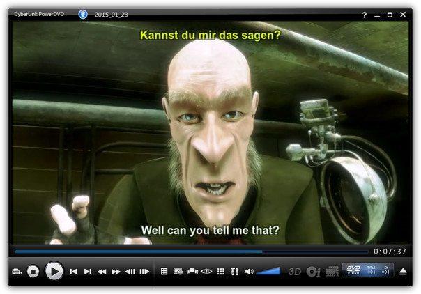 конвертированное видео в powerdvd