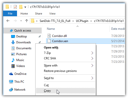 скопировать коридор xen файл