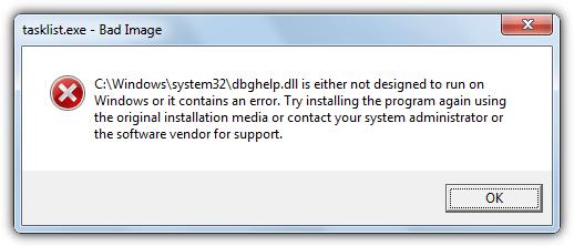 DBGHelp ошибка Windows 7