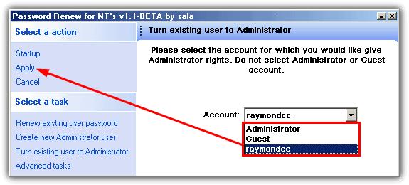 превратить существующего пользователя в администратора