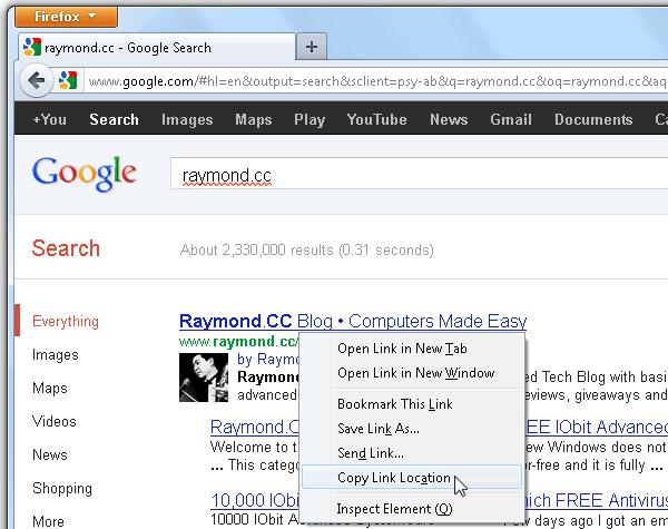 Прямая ссылка на сайт Google Search