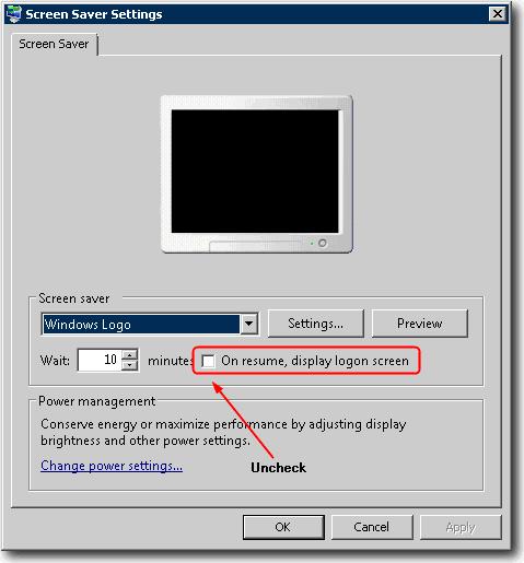 Отключить выход из удаленного рабочего стола во время простоя