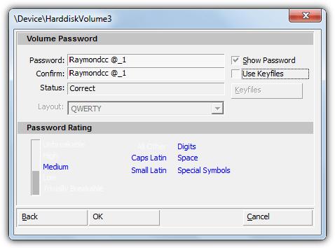 пароль дисккриптора