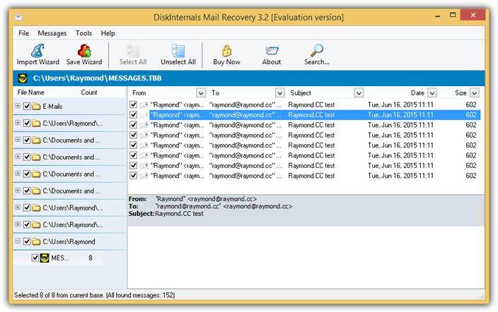 DiskInternals почта-восстановление