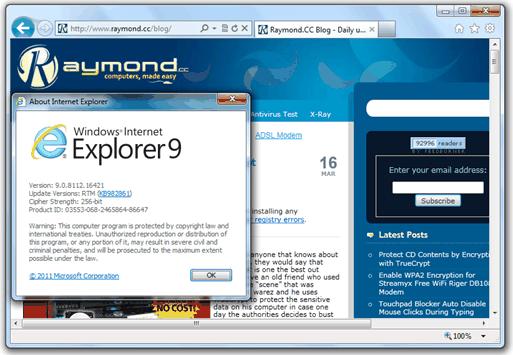 Загрузить Internet Explorer 9 автономно