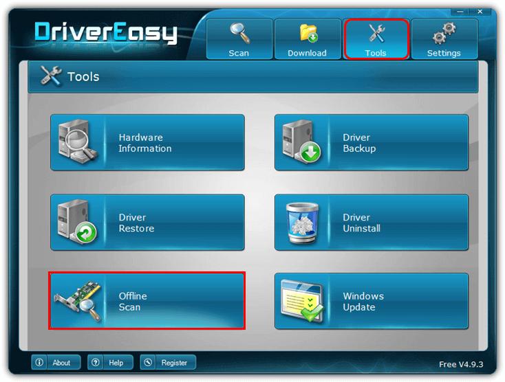 drivereasy_offline_scan
