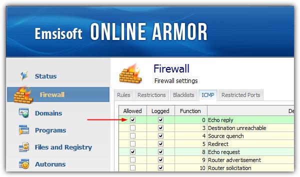 emsisoft онлайн броня icmp echo ответить