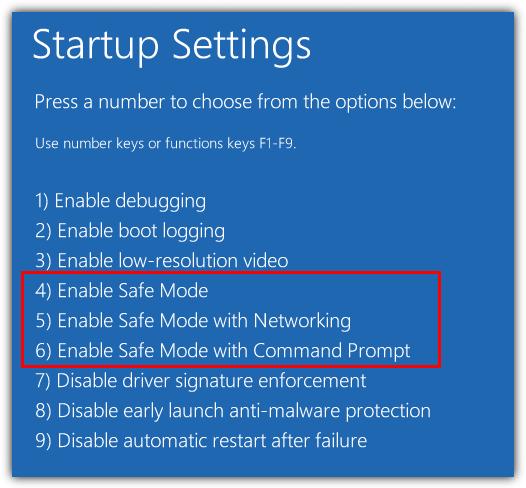 включен безопасный режим в windows 10