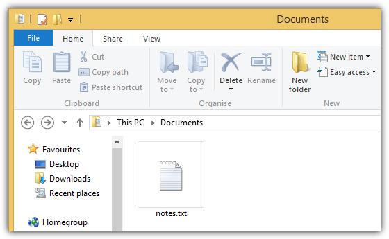 расширение текста в проводнике