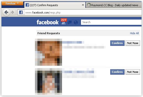 Facebook подтвердите все запрос на добавление в друзья