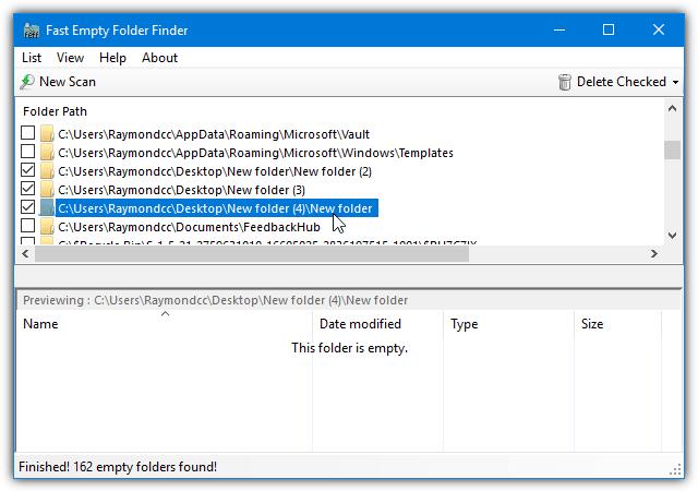 быстрая пустая папка finder_results