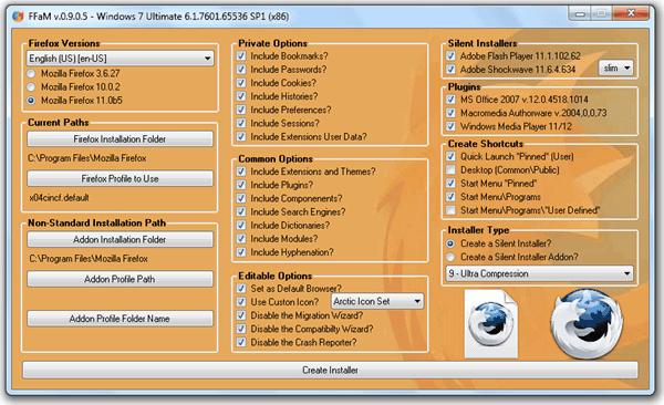 Пользовательский установщик Firefox