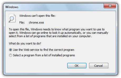 Windows не может открыть этот файл