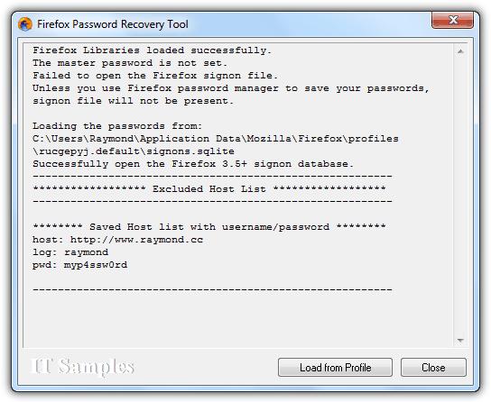 Firefox Password Recovery Tool
