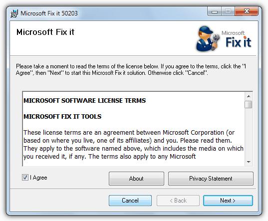 Microsoft исправить это 50203