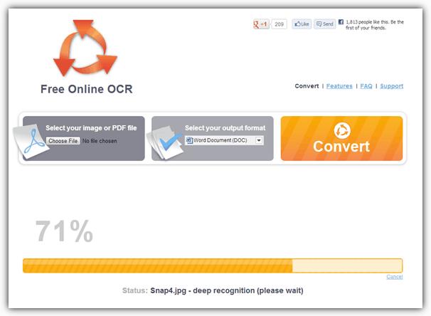 Бесплатный онлайн OCR