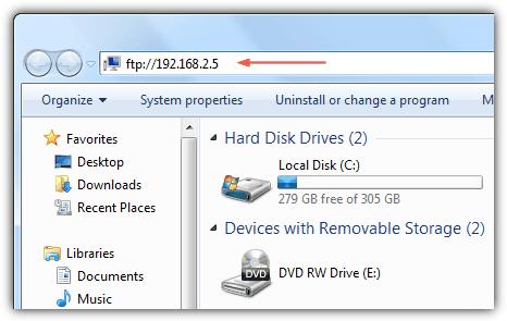 FTP из проводника Windows