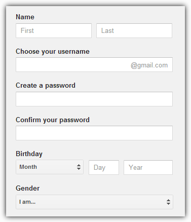 Подпишитесь на форму Gmail
