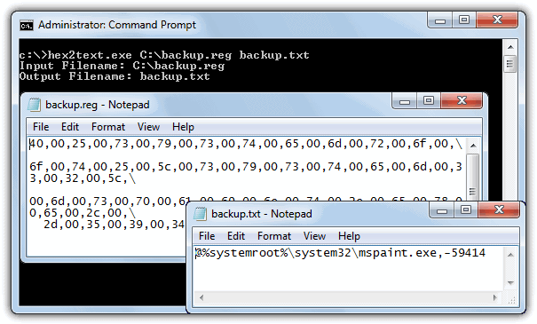 Hex2Text