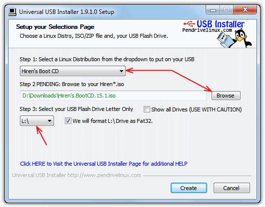 Универсальный USB-установщик ISO-USB интерфейс