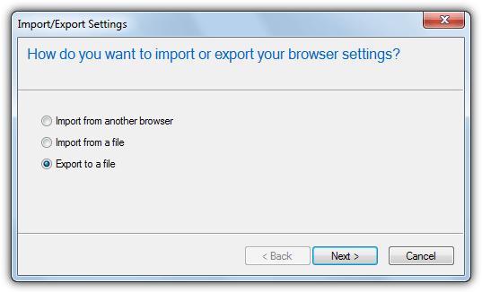 т.е. экспортировать закладки как HTML