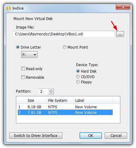 диск для установки инструментария imdisk