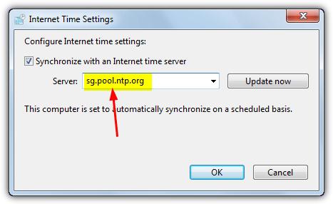 сервер пула настроек времени интернета