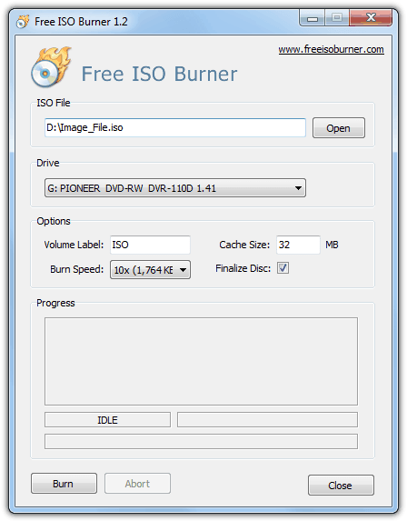 Бесплатный ISO Burner