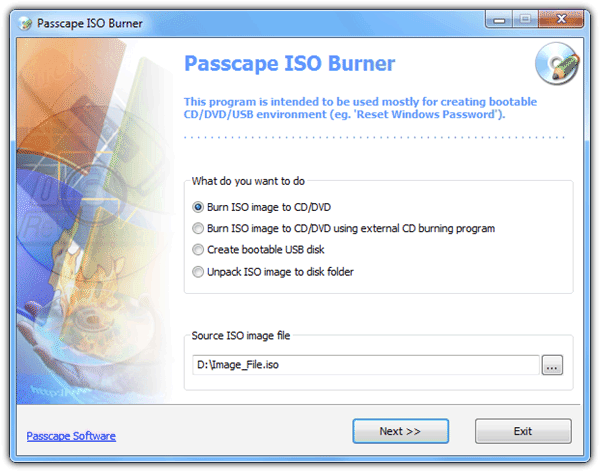 Passcape ISO Burner
